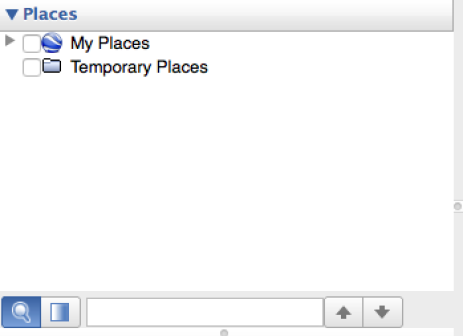 This is where your content will be created and stored. Make note of the two different folders: My Places and Temporary