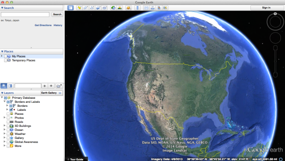 Close the panels you don't need when working in Google Earth